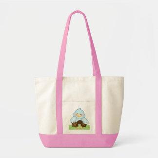 Cute Blue Bird Chocolate Book Bag