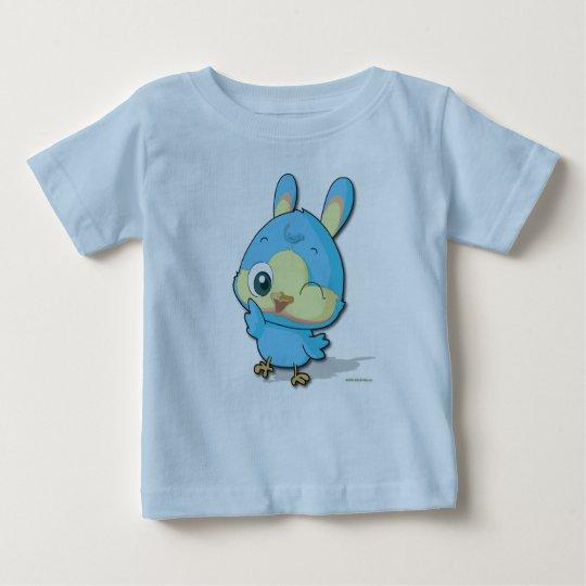 Cute Blue Bird Tee Funny Cartoon Character T-shirt
