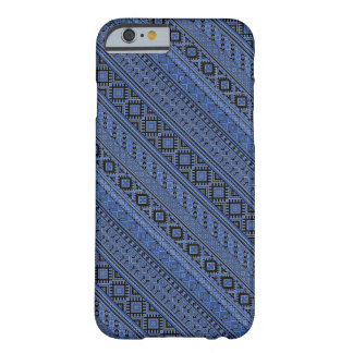 Cute blue black Ukrainian ornament stripes Barely There iPhone 6 Case