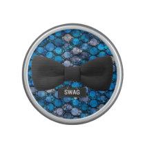 Cute Blue Bling Swag Bow Tie Speaker