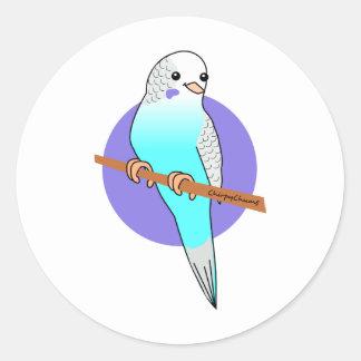 Cute Blue Budgie Sticker