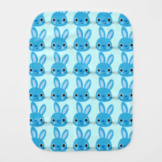 Cute Blue Bunny Baby Burp Cloth