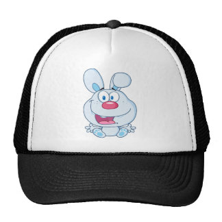 Cute Blue Bunny Cartoon Character Hats
