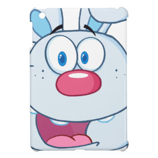 Cute Blue Bunny Cartoon Character Case For The iPad Mini