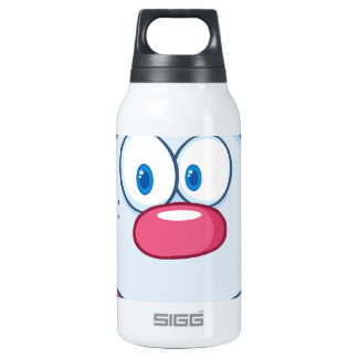 Cute Blue Bunny Cartoon Character Thermos Water Bottle