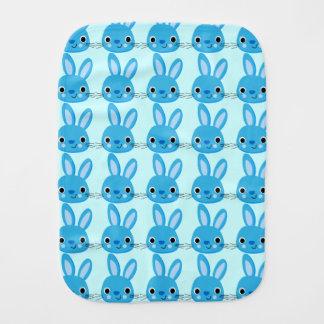 Cute Blue Bunny Burp Cloth
