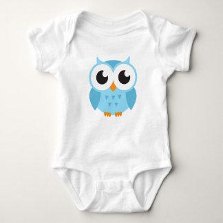 Cute blue cartoon baby owl baby bodysuit