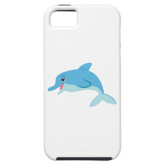 Cute Blue Cartoon Bottlenose Dolphin Case For iPhone 5/5S
