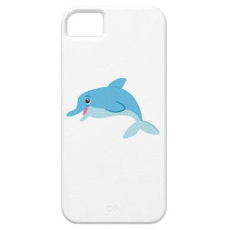 Cute Blue Cartoon Bottlenose Dolphin iPhone 5 Cover