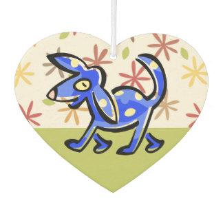 Cute Blue Cartoon Dog, Dog on a Walk Car Air Freshener