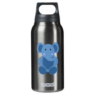 Cute Blue Cartoon Elephant Insulated Water Bottle