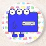 Cute Blue Cartoon Monster Coaster