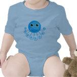 Cute Blue Cartoon Octopus Shirt