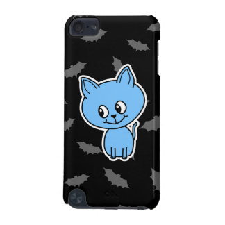 Cute Blue Cat and Bats. iPod Touch (5th Generation) Cover