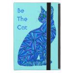 Cute Blue Cat Be The Cat Fun Art iPad Mini iPad Mini Covers