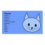 Cute Blue Cat Business Card Templates