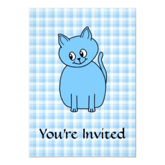 Cute Blue Cat. Card
