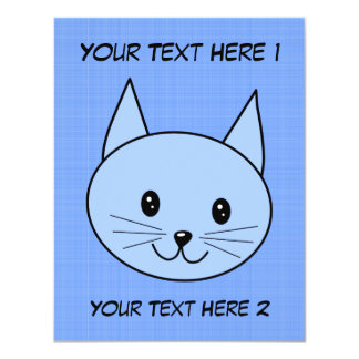 Cute Blue Cat Card