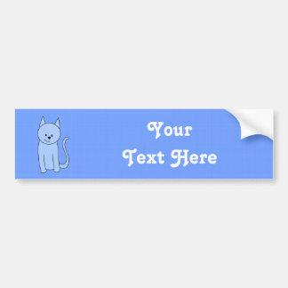 Cute Blue Cat Cartoon Bumper Sticker