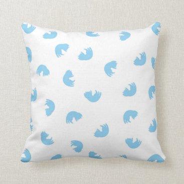 Beach Themed CUTE Blue Cat Pattern Throw Pillow