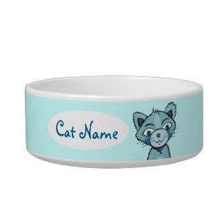 Cute Blue Cat pet bowl