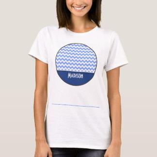 Cute Blue Chevron Pattern T-Shirt