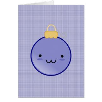Cute Blue Christmas Ornament Card