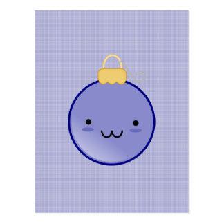 Cute Blue Christmas Ornament Postcard