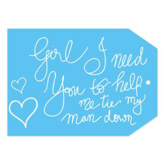 Cute Blue Cool Script Typography Bridesmaid Card