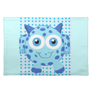 Cute Blue Cow Critter American MoJo Placemat Cloth Placemat