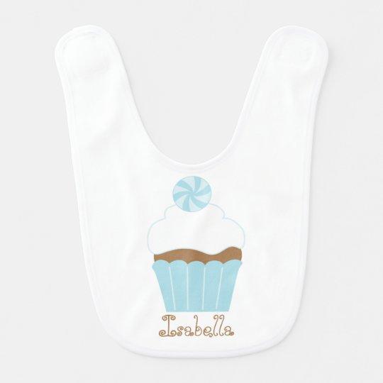 Cute Blue Cupcake Bib