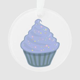 Cute Blue Cupcake Swirl Icing With Sprinkles