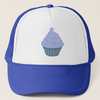 Cute Blue Cupcake Swirl Icing With Sprinkles Trucker Hat