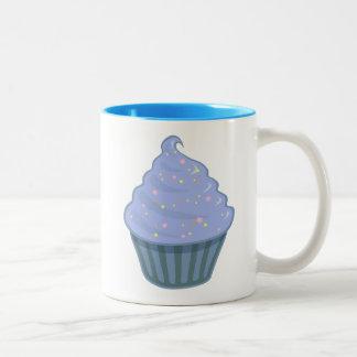 Cute Blue Cupcake Swirl Icing With Sprinkles Two-Tone Coffee Mug