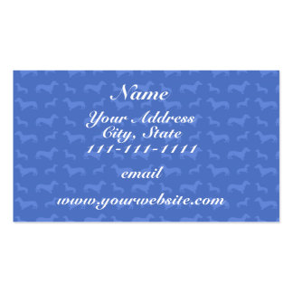 Cute blue dachshund pattern Double-Sided standard business cards (Pack of 100)