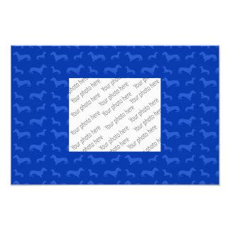 Cute blue dachshund pattern photo