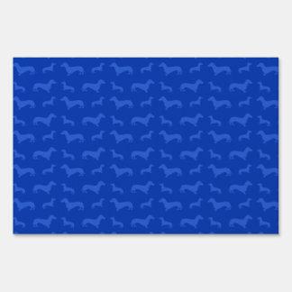 Cute blue dachshund pattern sign
