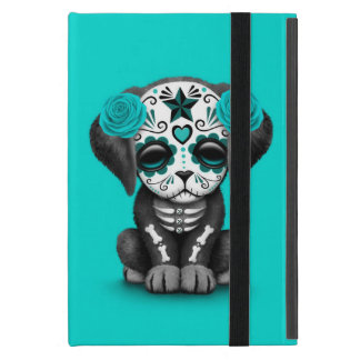 Cute Blue Day of the Dead Puppy Dog Cases For iPad Mini