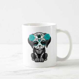 Cute Blue Day of the Dead Puppy Dog Coffee Mugs