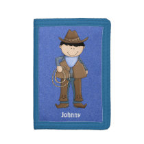 Cute Blue Denim Cowboy Wallet