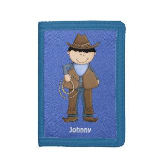 Cute Blue Denim Cowboy Wallet
