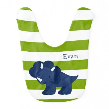 heartlocked Cute Blue Dinosaur Bib