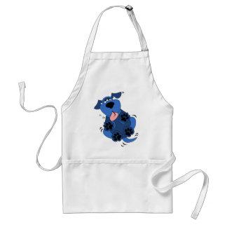 Cute Blue Dog design Adult Apron