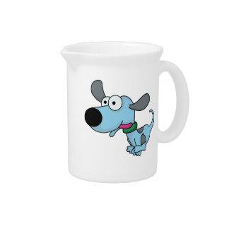 Cute Blue Doggie Drink Pitchers