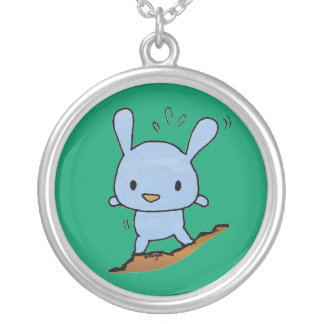 Cute blue Doggy Personalized Necklace