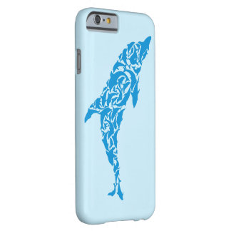 Cute blue dolphins forming a cute dolphin shape, barely there iPhone 6 case
