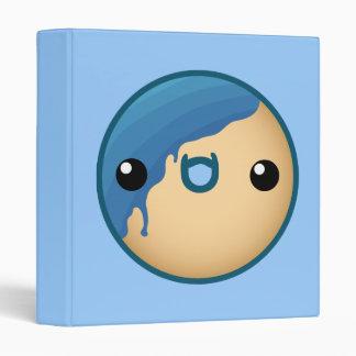 Cute Blue Donut Binder