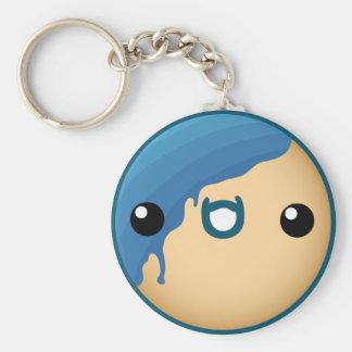 Cute Blue Donut Key Chains
