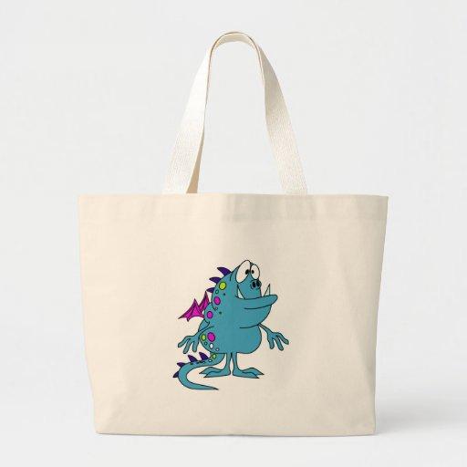 cute blue dragon monster creature bag