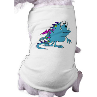 cute blue dragon monster creature doggie t shirt